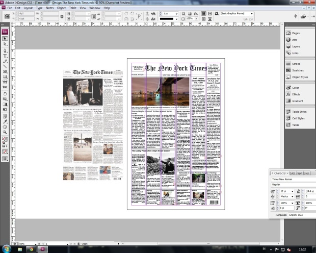 Mock Up of The New York Times by me!