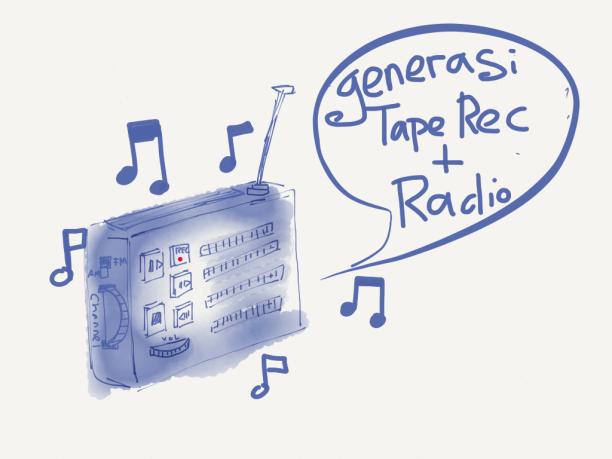 Haha, kebetulan saya dulu generasi yang suka merekam radio dengan tape rec saya :D