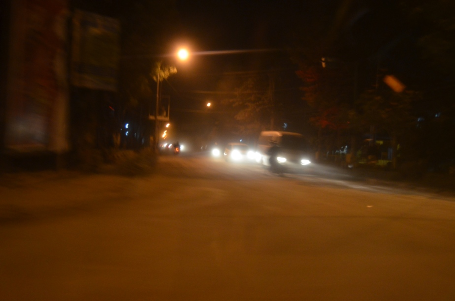Jalanan Yogyakarta di malam hari
