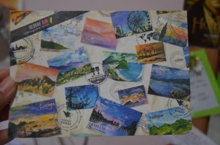 Dari Yu-Ting di Taiwan, ini adalah kartu kedua yang ia kirimkan
